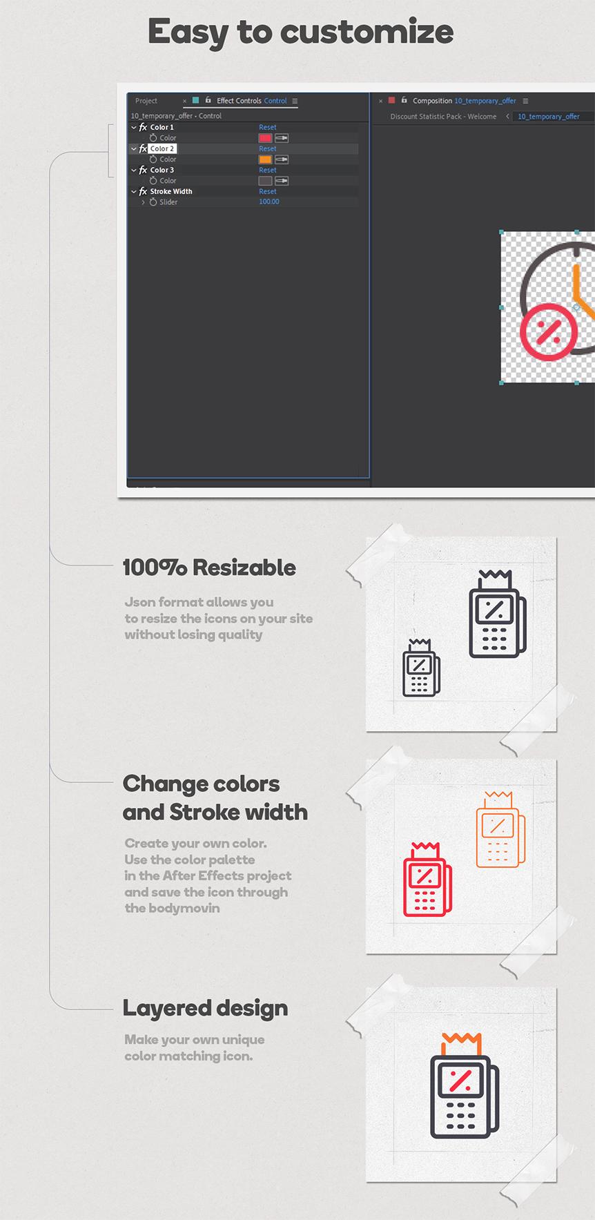 Business Bundle 256 Animated Lottie Icons - Ecommerce Marketing Office Discount - 5