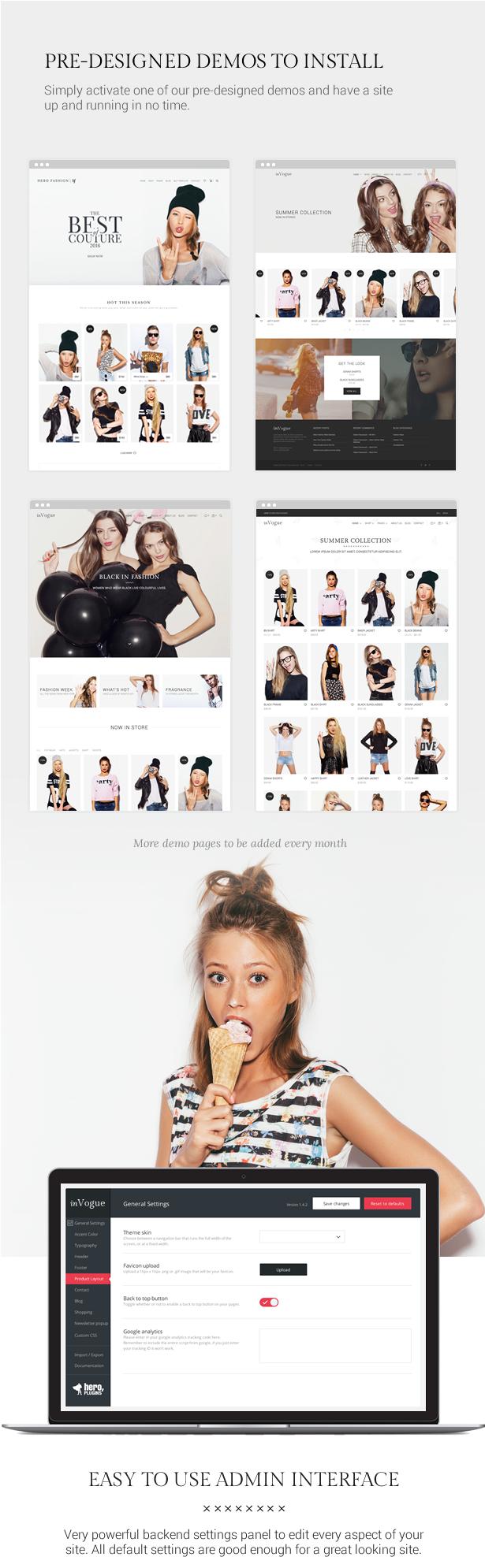 inVogue - WordPress Fashion Shopping Theme - 8