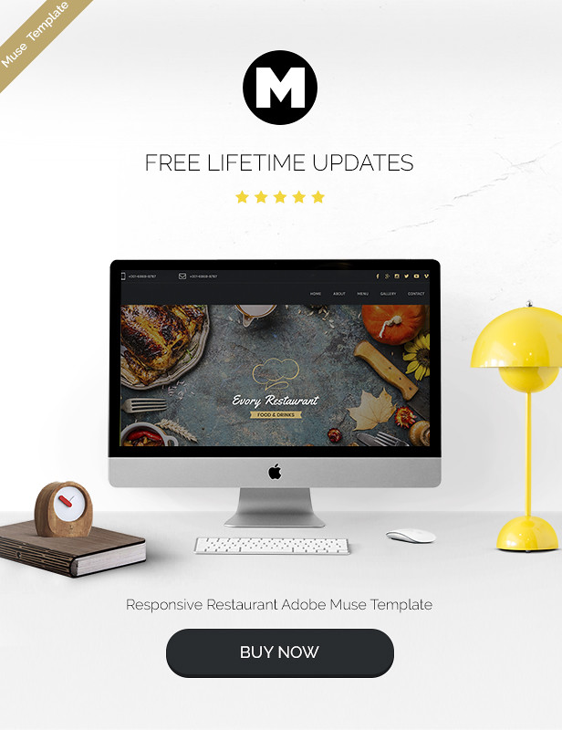 Evory - Responsive Restaurant Adobe Muse Template - 5