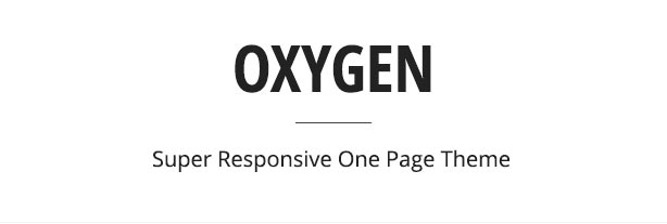 Oxygen One Page Parallax Theme - 2