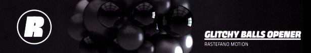 Dynamic Glitchy Balls Logo Opener