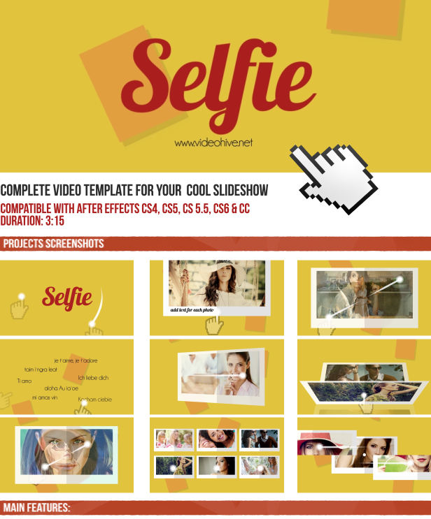 selfie template for your slideshow by jbmotion videohive