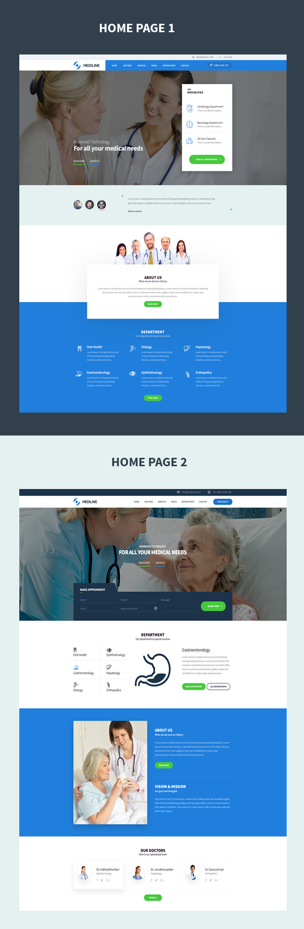 Mediline : Medical & Health HTML Template