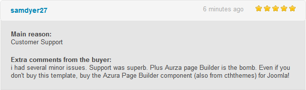 Cashemir Reviews - Customer Support + Azura Pagebuilder