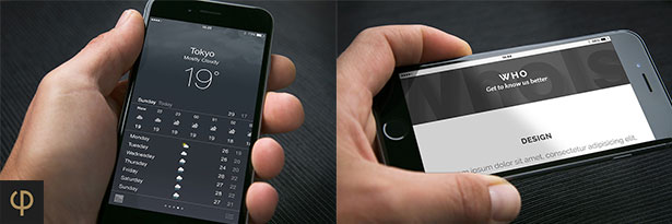 iPhone 6 Mockups Leather - 1