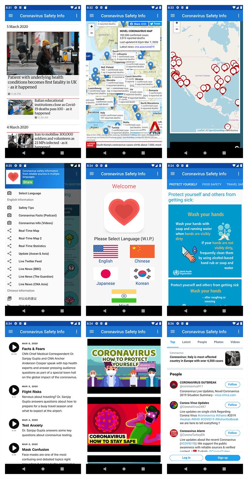 Coronavirus (COVID-19) App