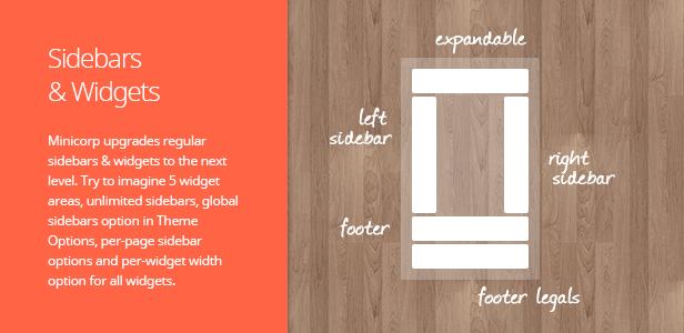 Sidebars & Widgets. Minicorp upgrades regular sidebars & widgets to the next level. Try to imagine …