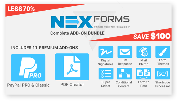 NEX-Forms - Add-on Bundle