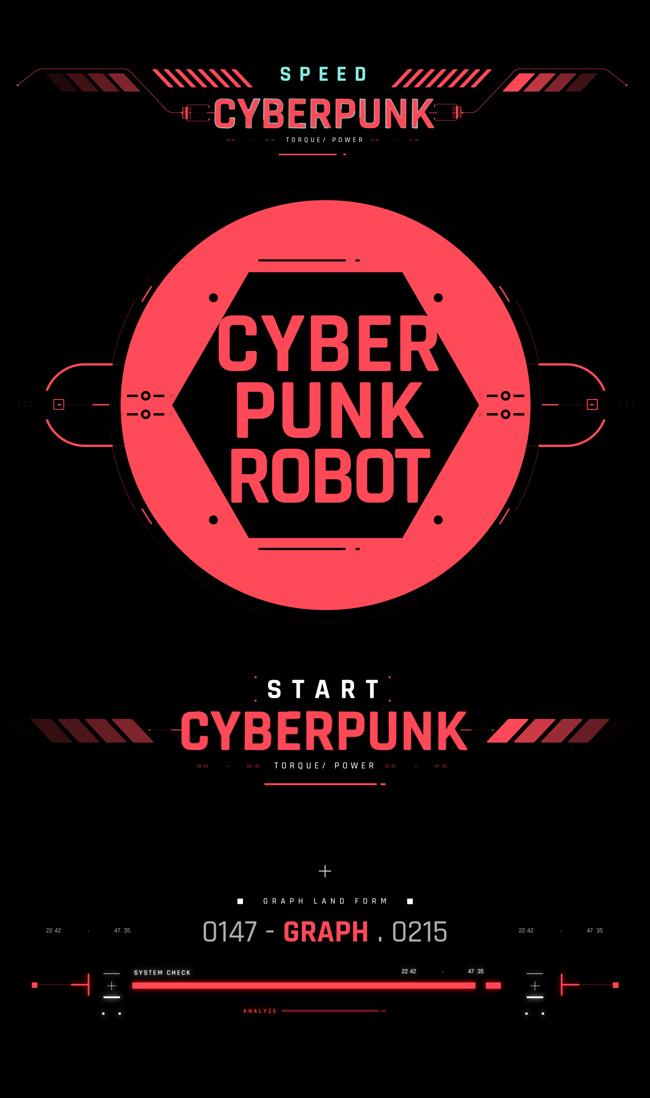 AE脚本-500个HUD高科技赛博朋克UI科幻界面元素动画预设包 Cyberpunk HUD UI 500+ 已修复中文版AE表达式报错插图7