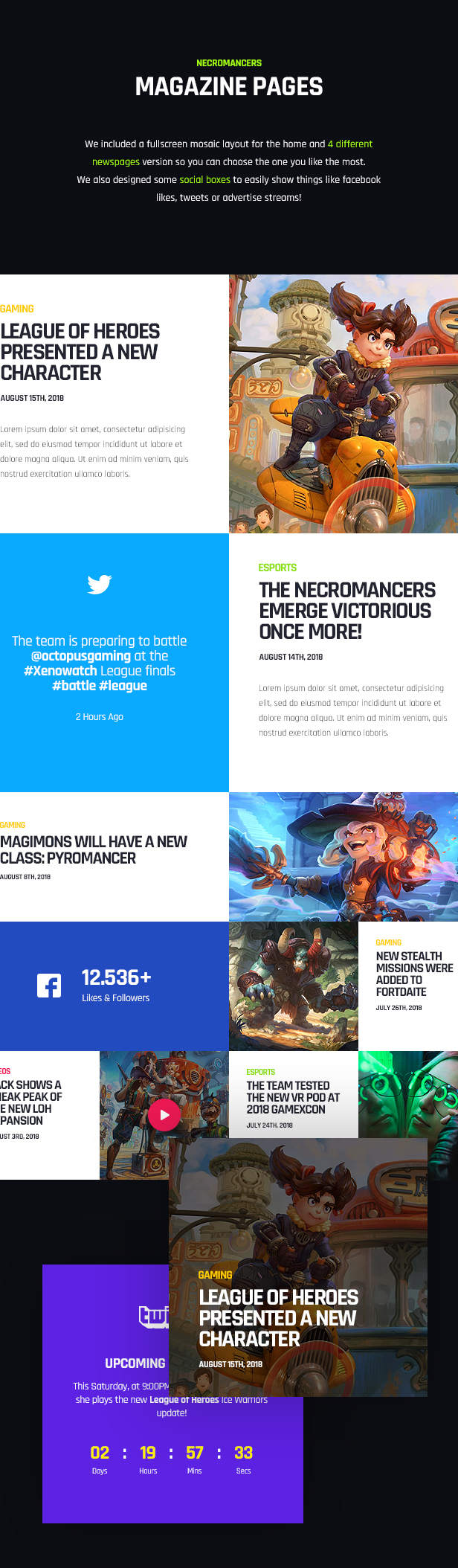 Necromancers HTML Template