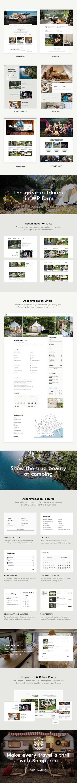 Kamperen - Camping and Adventure Tourism Premium Themeforest WordPress Theme