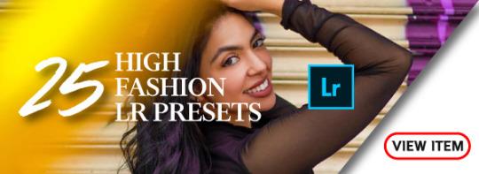 best high fashion lightroom presets portrait