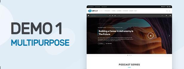 Wpcast - Audio Podcast WordPress Theme - 1