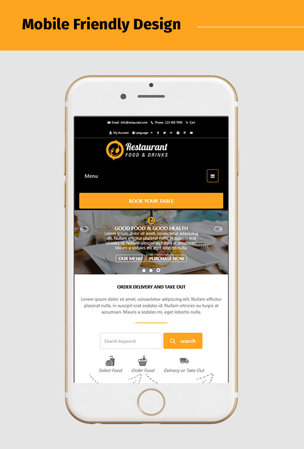 restaurant-food-and-drink-template mobile friendly