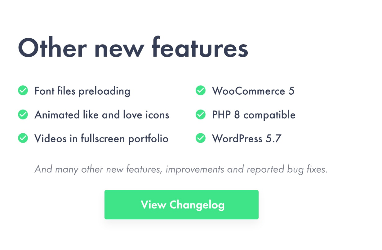 Many other features and fixes