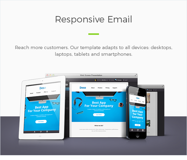 deso responsive email newsletter template by maestomail themeforest
