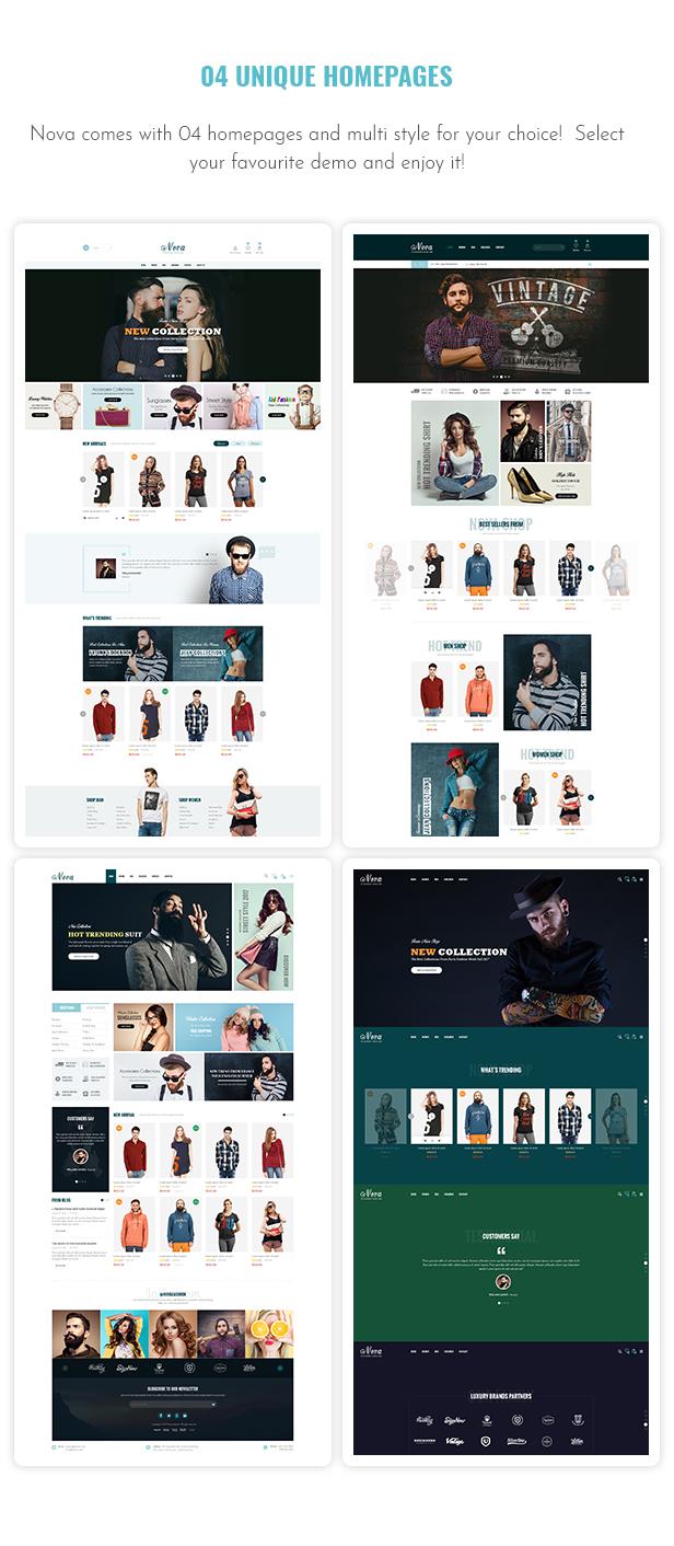 Nova - Fashion, Clothing & Accessories Shopify Theme