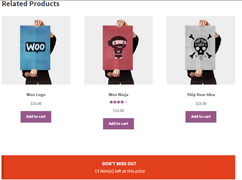 WooPlugins - Woocommerce Urgency and Scarcity - 4