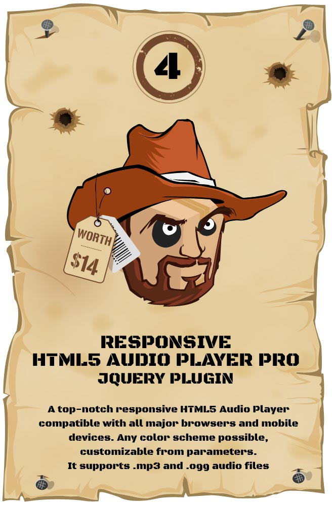 Responsive HTML5 Audio Player PRO Responsive Plugin