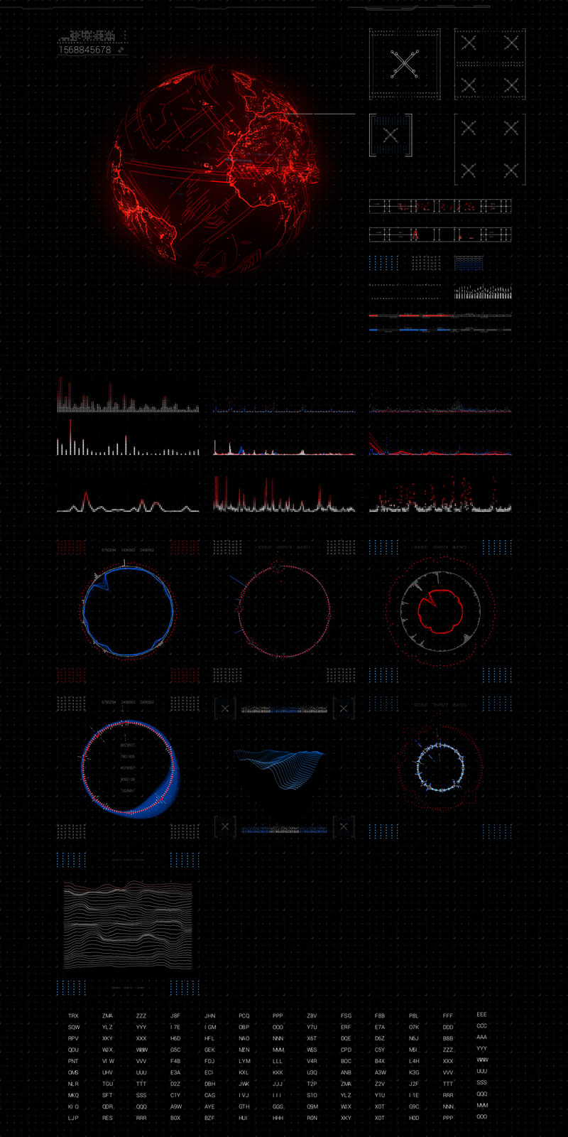 VLTRA sci-fi interface kit HollyHUD