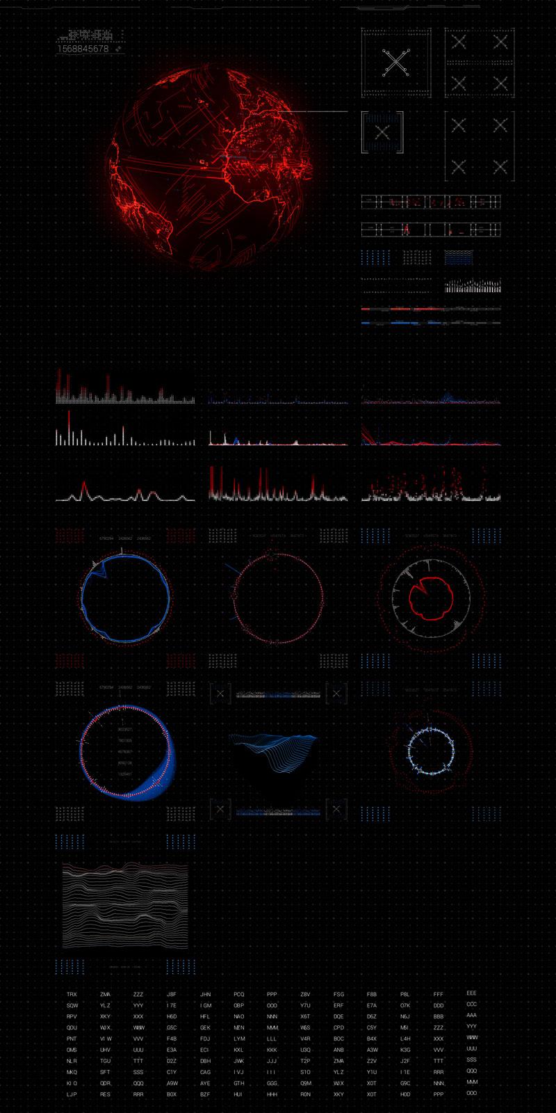 VLTRA sci-fi interface kit HollyHUD