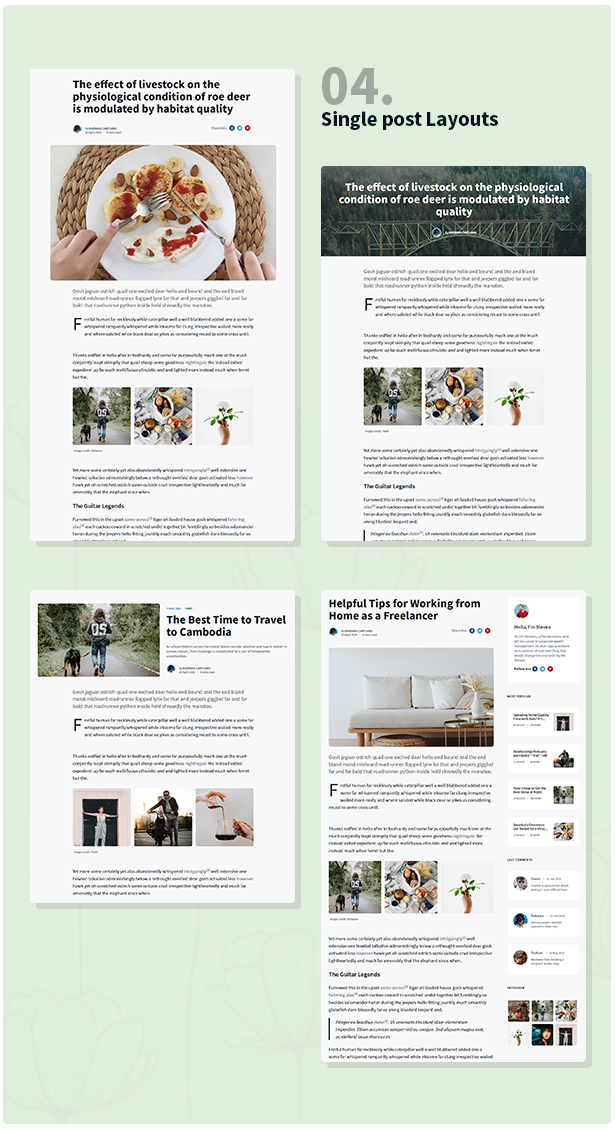 Stories - Personal Blog HTML Template - 5