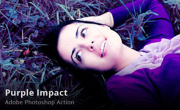 Purple Impact Photoshop Action