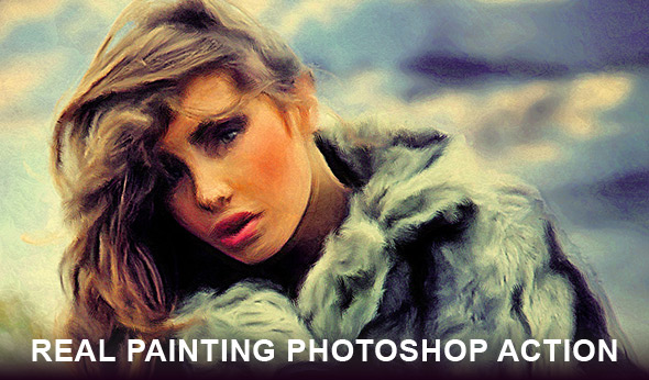 Real painting Photoshop action