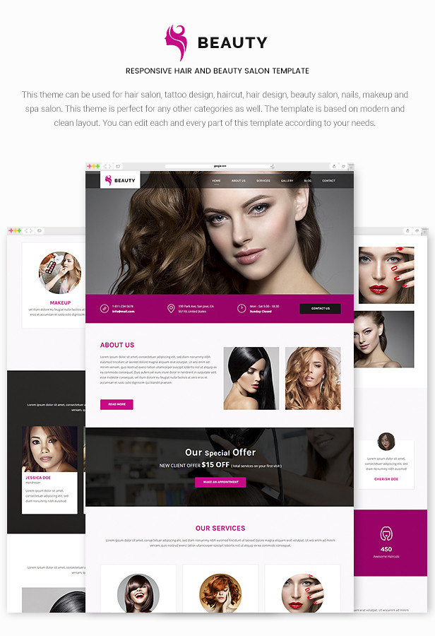 beauty responsive hair and beauty salon template by maximustheme