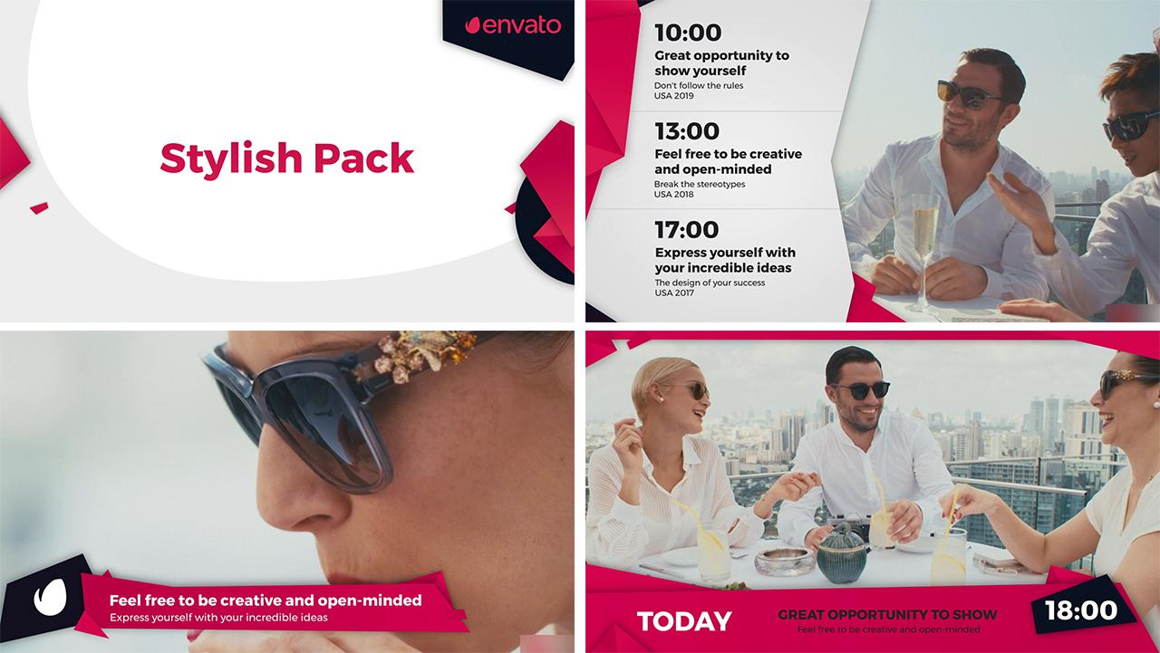 Stylish Broadcast Pack - 3
