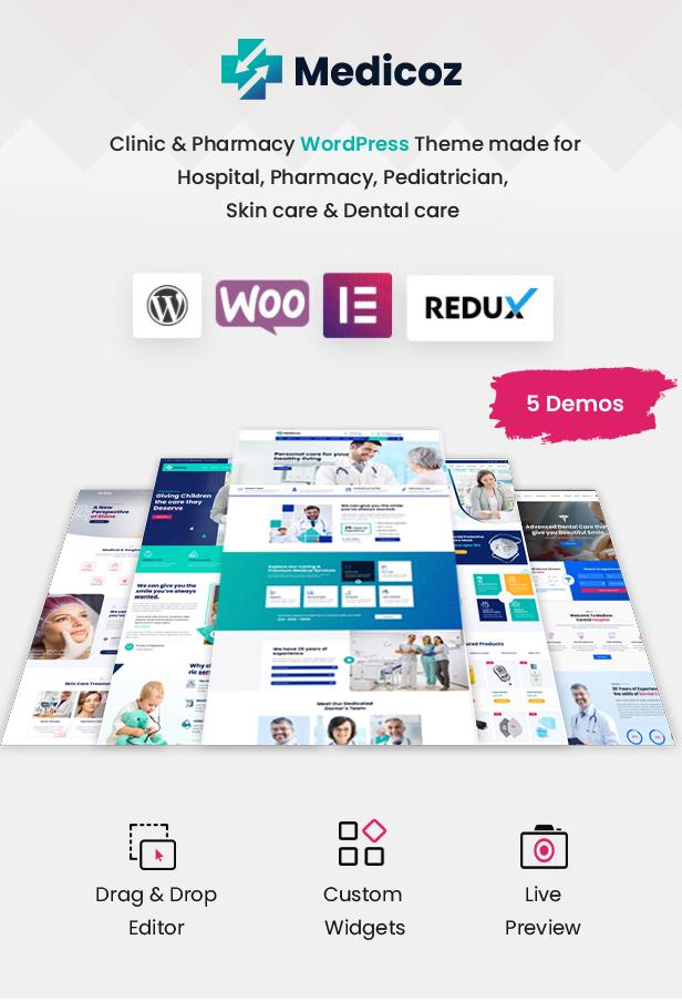 Medicoz - Clinic & Pharmacy WordPress Theme - 7