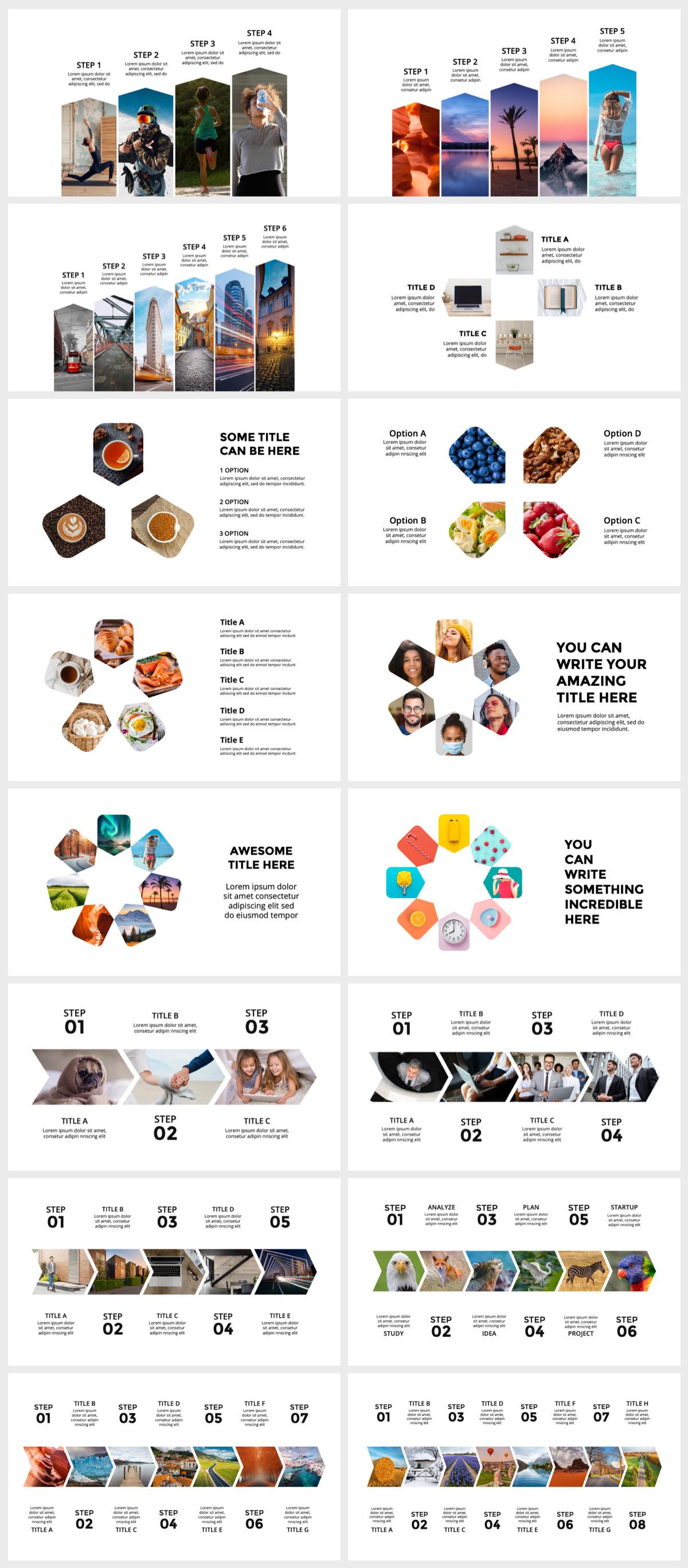 Huge Infographics Bundle! Lifetime Updates! PowerPoint, Photoshop, Illustrator. - 142