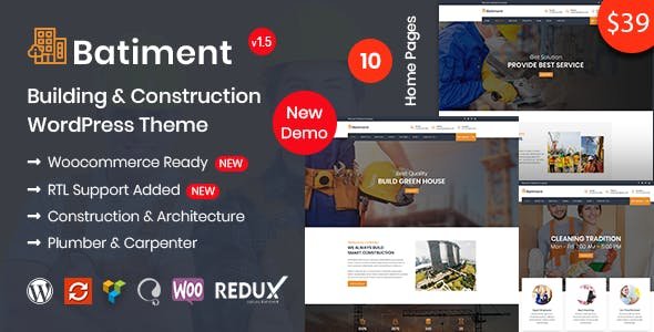 Batiment - Construction & Building WordPress Theme