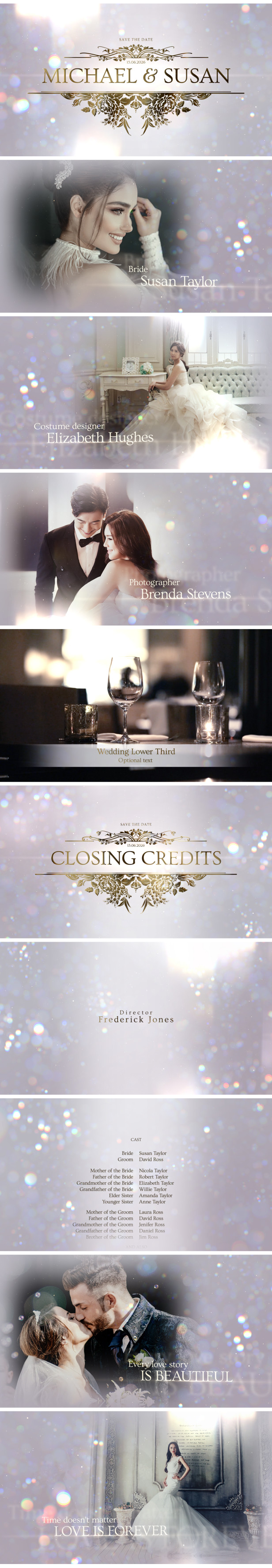 Elegant Wedding After Effects Template for wedding videographers
