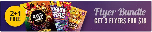 Mardi Gras Flyer Bundle Vol.03