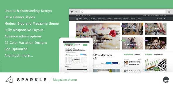 Sparkle - Responsive News/Magazine Drupal 7.6 theme
