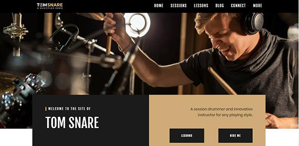 MusicFlex - WordPress Theme for Musicians - 2