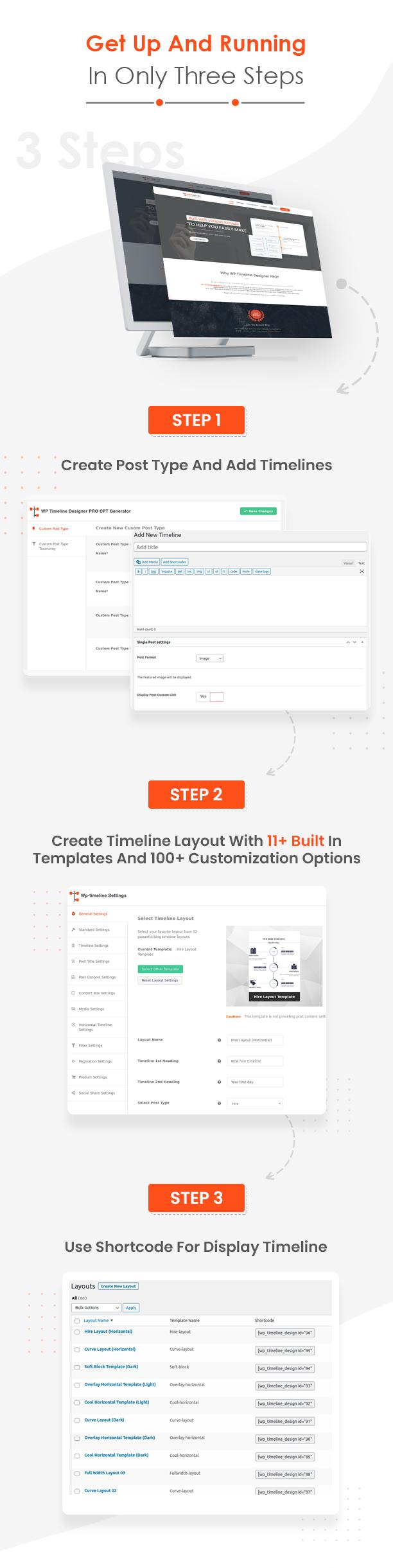 WP Timeline Designer plugin how it works
