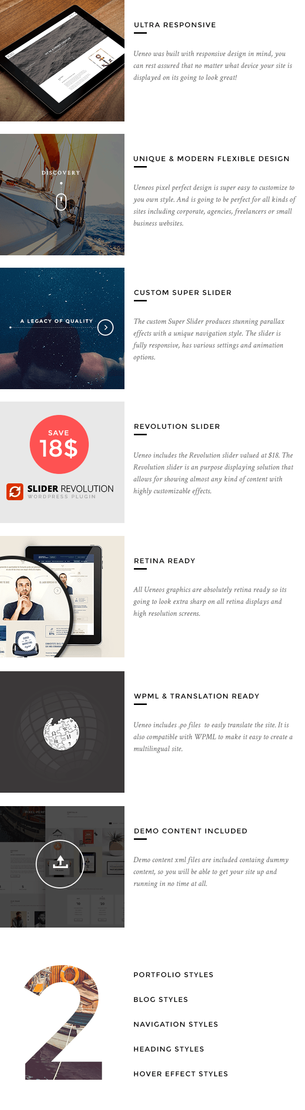 Ueneo - Creative One Page Parallax WordPress Theme - 1