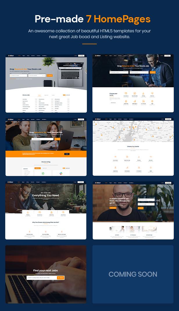 Jobber - Job Board HTML5 Template - 2