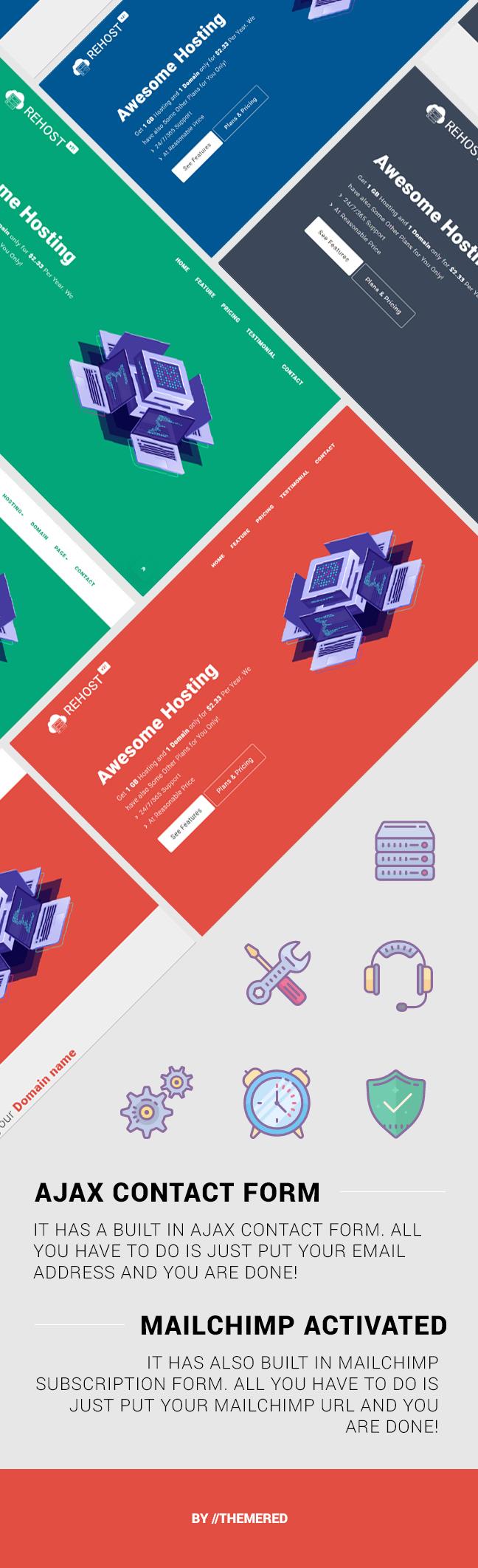 Rehost - HTML5 Responsive Hosting Template - 3