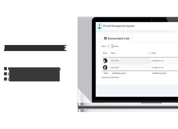 church system wp accountant modules