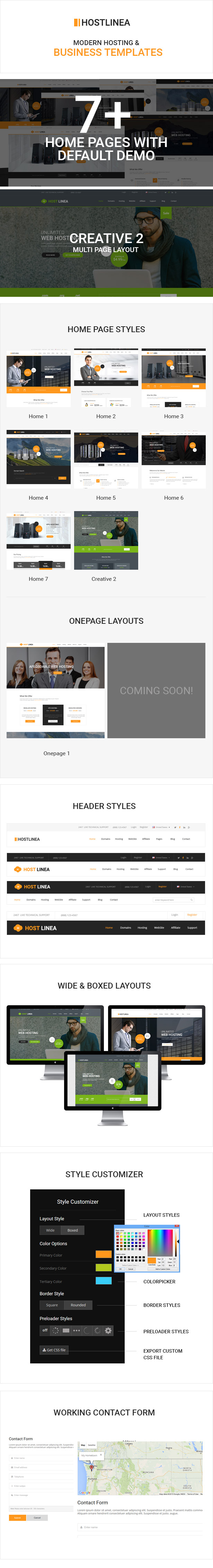 Hostlinea - Web Hosting, Responsive HTML5 Template by codelayers ...