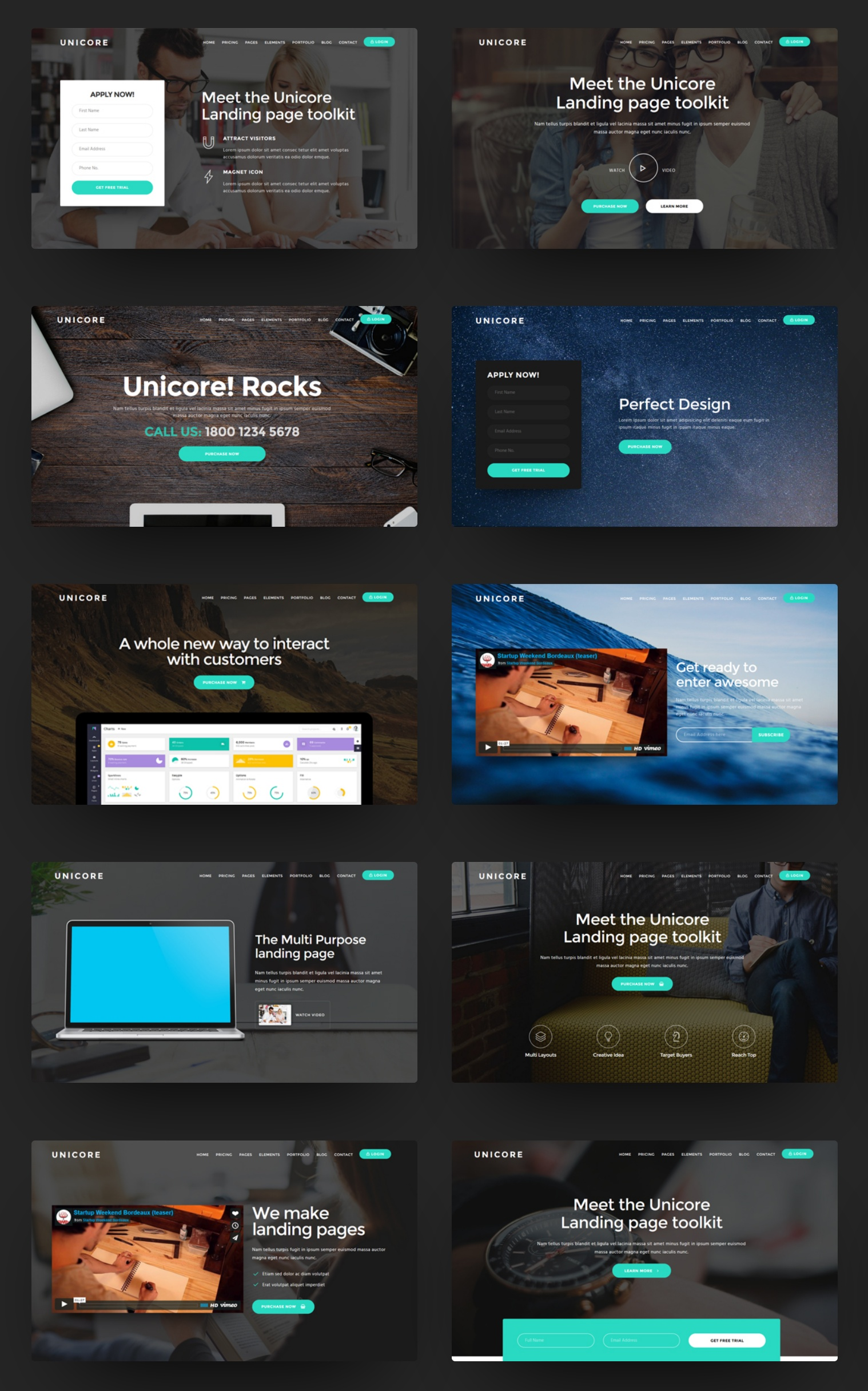 Unicore - Mobirise Builder with 20 HTML Bootstrap Landing Page Templates - 4