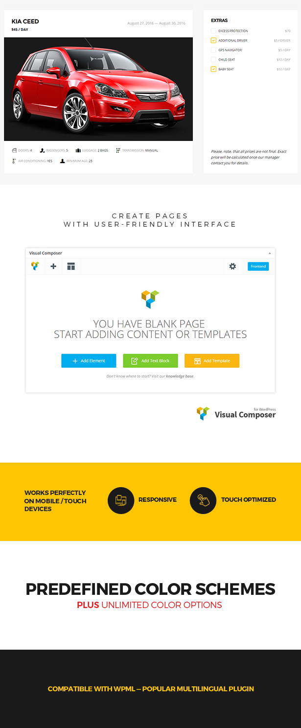Wheelsberry – Car Rental WordPress Theme / Landing Page
