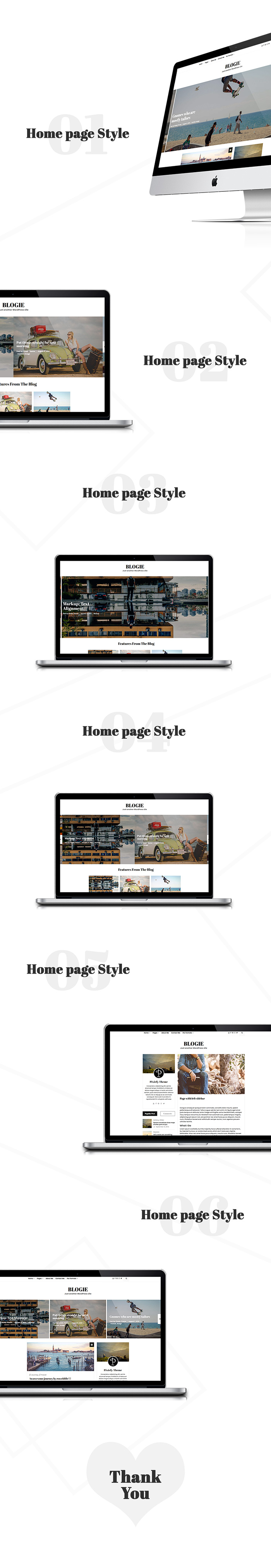 Blogie - Minimalist WordPress Blog theme - 1