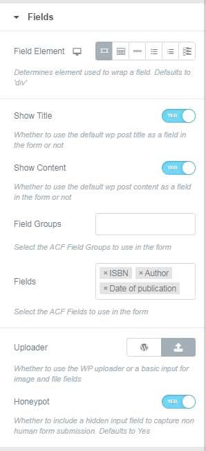 Fields Attributes