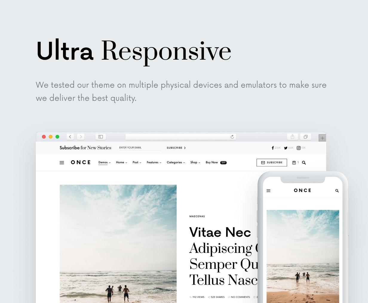 Once - Clean & Elegant WordPress Blog Theme - 44
