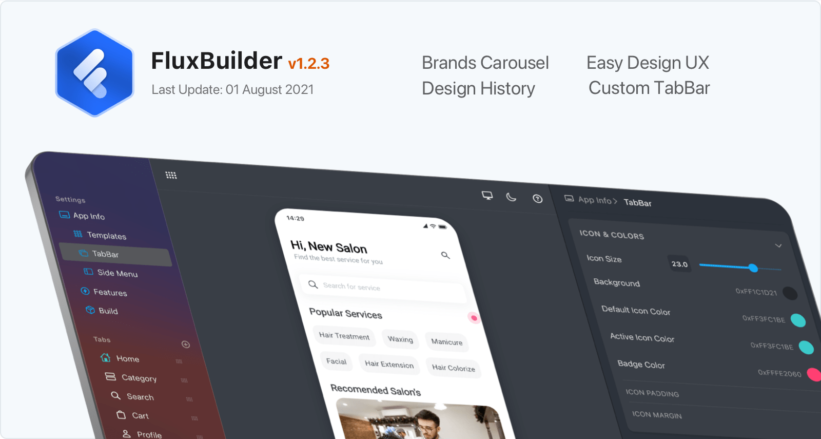 Flutter App Builder: FluxBuilder - FluxStore  app