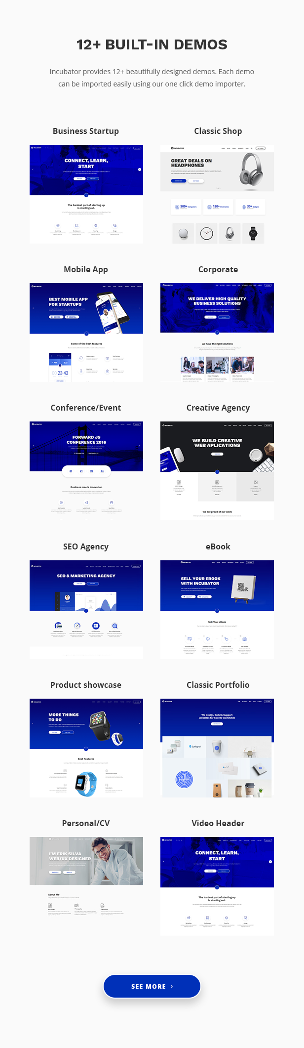 Incubator - WordPress Startup Business Theme